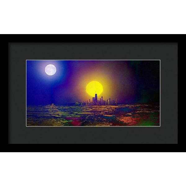 Deserted City - Framed Print - 14.000 x 7.000 / Black / Black - Framed Print