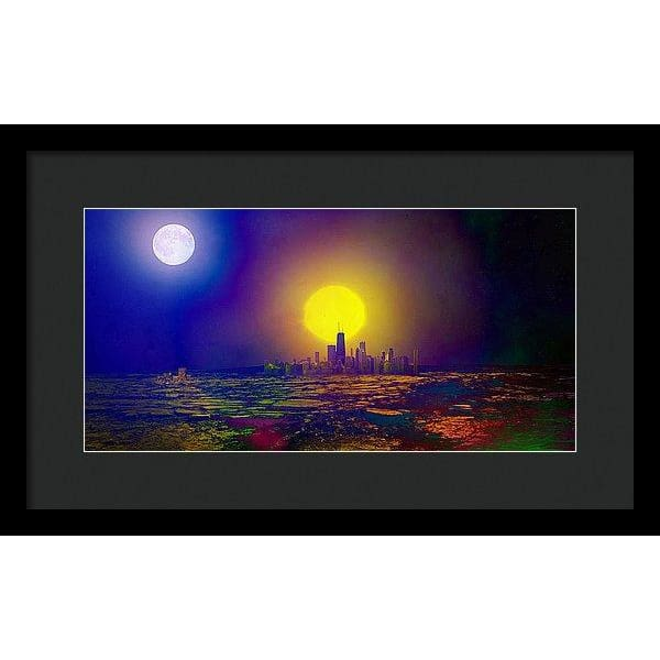Deserted City - Framed Print - 16.000 x 8.000 / Black / Black - Framed Print