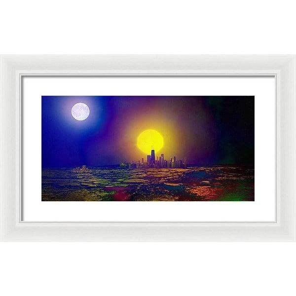 Deserted City - Framed Print - 20.000 x 10.000 / White / White - Framed Print
