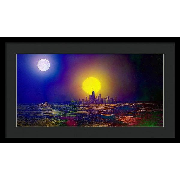 Deserted City - Framed Print - 24.000 x 12.000 / Black / Black - Framed Print