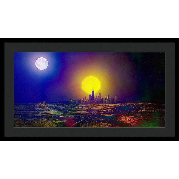 Deserted City - Framed Print - 30.000 x 15.000 / Black / Black - Framed Print