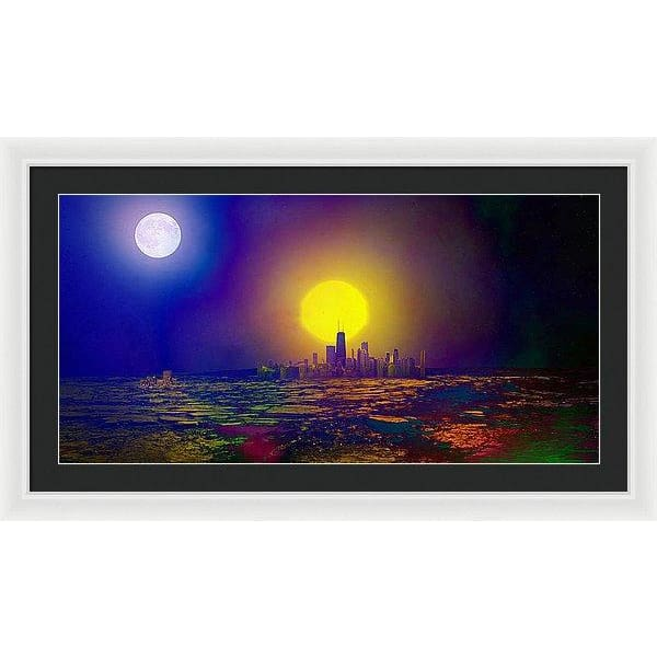 Deserted City - Framed Print - 36.000 x 18.000 / White / Black - Framed Print