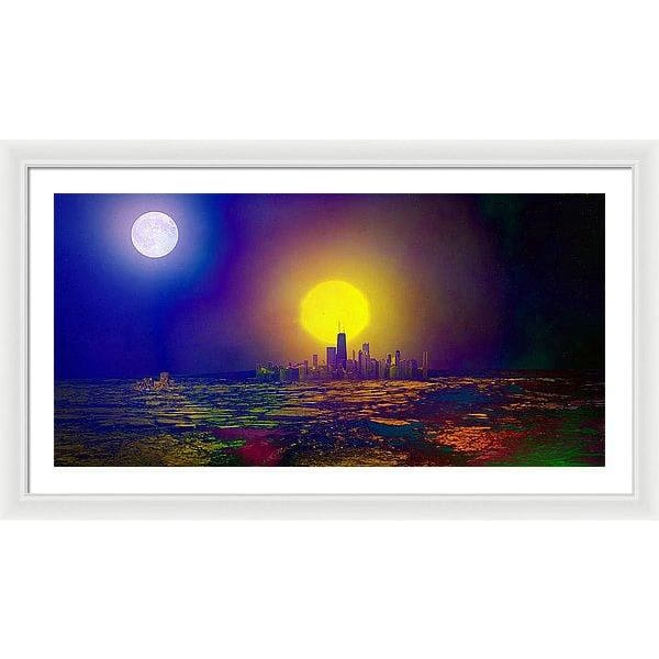 Deserted City - Framed Print - 40.000 x 20.000 / White / White - Framed Print