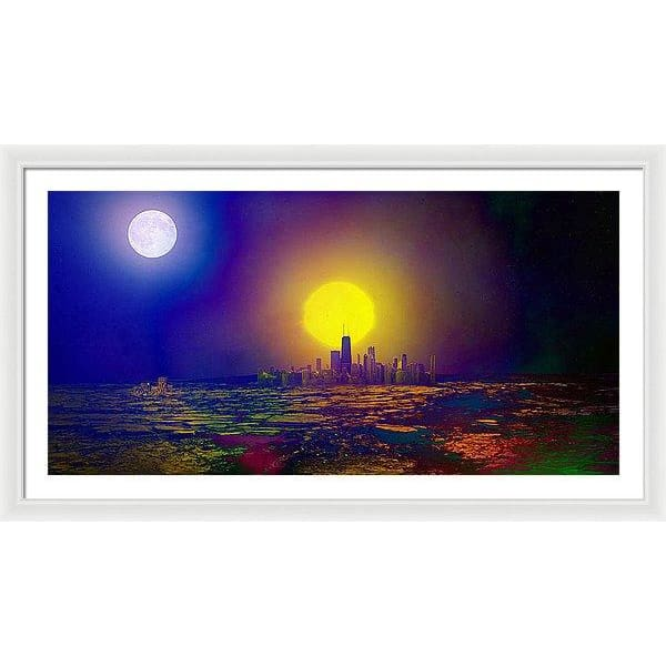 Deserted City - Framed Print - 48.000 x 24.000 / White / White - Framed Print
