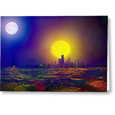 Deserted City - Greeting Card - Single Card - Greeting Card