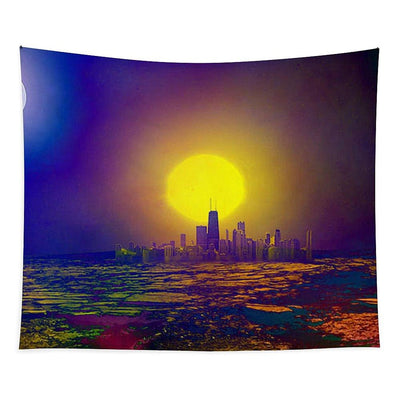Deserted City - Tapestry - 50 x 61 - Tapestry