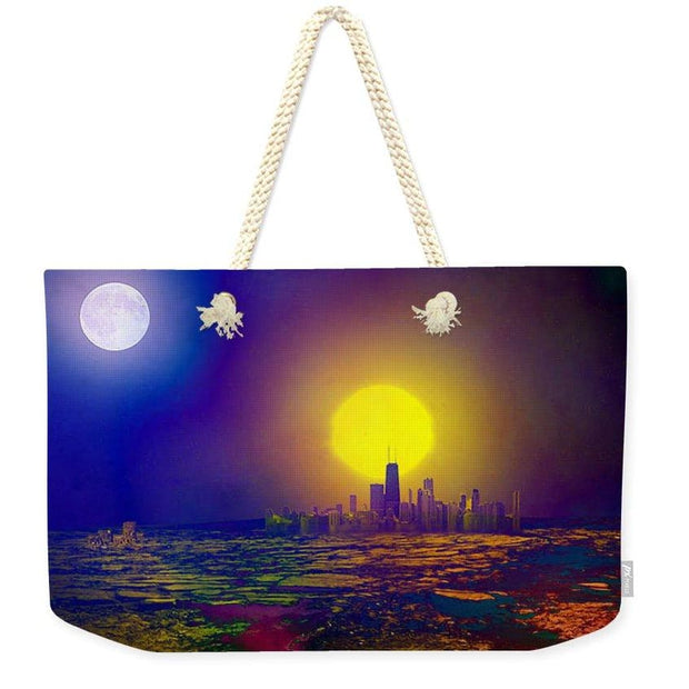 Deserted City - Weekender Tote Bag - 24 x 16 / Natural - Weekender Tote Bag