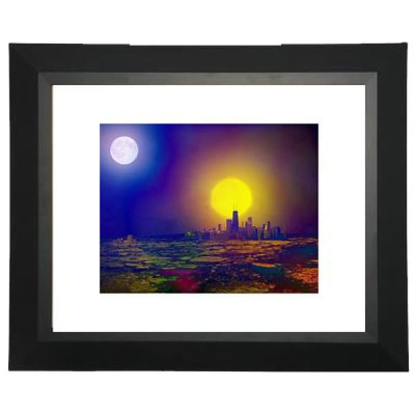 Deserted City/Dying Planet - Matted Print | Space Travel Art