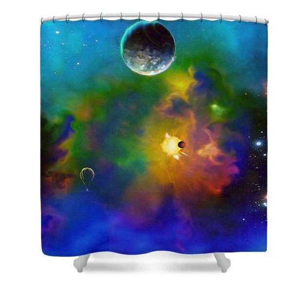 Dream Big  - Shower Curtain by Don White - Art Dreamer