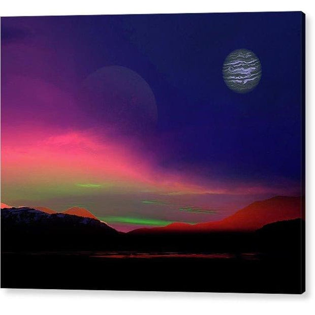 Exoplanet Sunset - Artists Concept - Acrylic Print - 10.000 x 8.000 / Hanging Wire - Acrylic Print