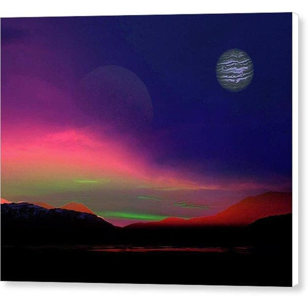 Exoplanet Sunset - Artists Concept - Canvas Print - 10.000 x 8.000 / White / Glossy - Canvas Print