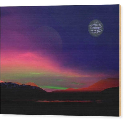 Exoplanet Sunset - Artists Concept - Wood Print - 10.000 x 8.000 - Wood Print