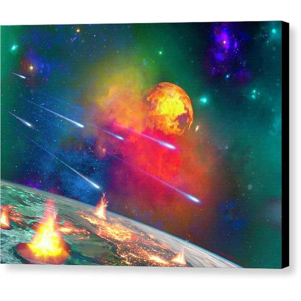 Fire Moon - Canvas Print by Don White - Art Dreamer
