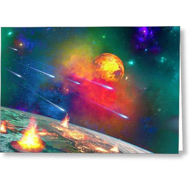 Fire Moon - Greeting Card by Don White - Art Dreamer