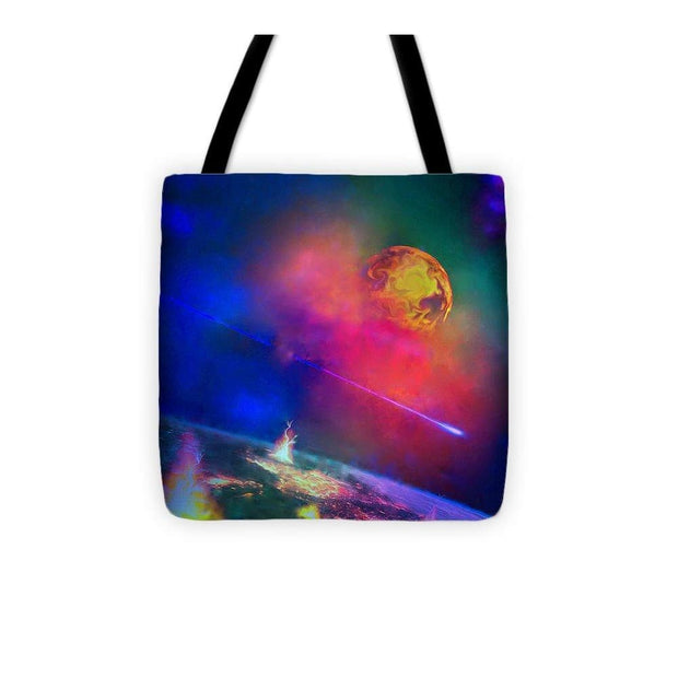 Fire Moon Re-visited - Tote Bag - 13 x 13 - Tote Bag