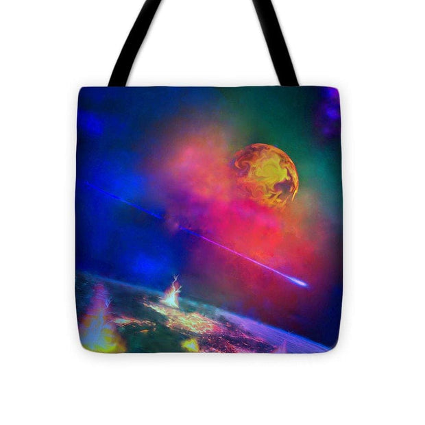 Fire Moon Re-visited - Tote Bag - 16 x 16 - Tote Bag