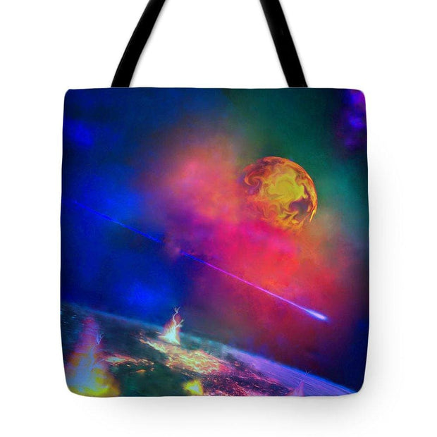 Fire Moon Re-visited - Tote Bag - 18 x 18 - Tote Bag