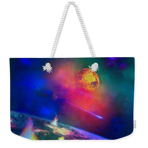 Fire Moon Re-visited - Weekender Tote Bag - 24 x 16 / White - Weekender Tote Bag