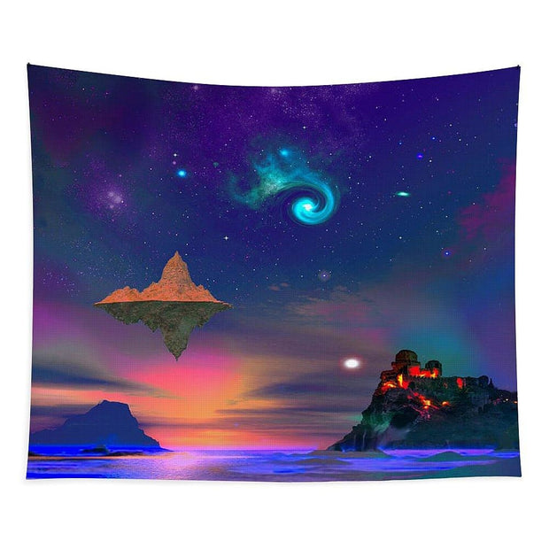 Floating Island - Tapestry - 88 x 104 - Tapestry