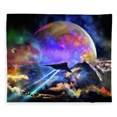 Fly-by - Blanket by Don White - Art Dreamer