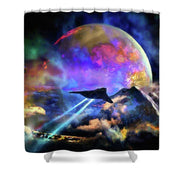 Fly-by - Shower Curtain by Don White - Art Dreamer