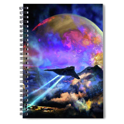 Fly-by - Spiral Notebook by Don White - Art Dreamer