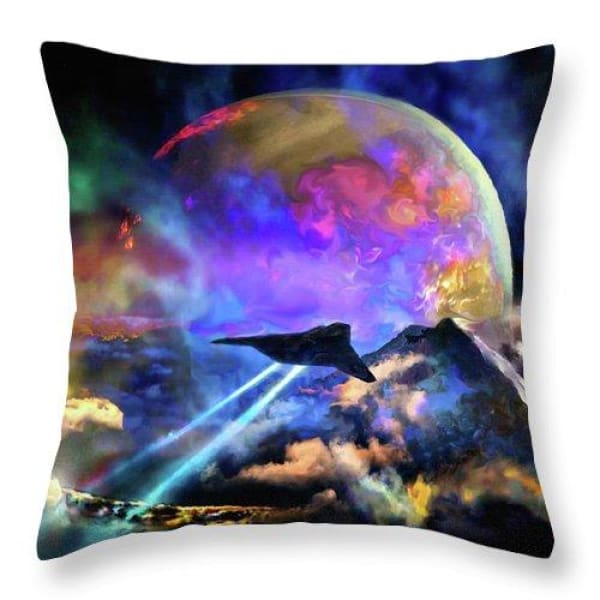 Fly-by - Throw Pillow by Don White - Art Dreamer