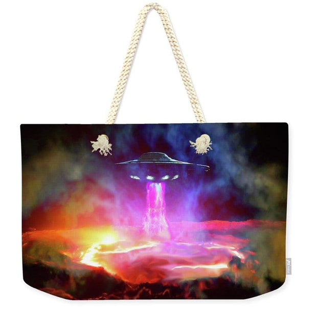 Fuel Stop - Weekender Tote Bag by Don White - Art Dreamer