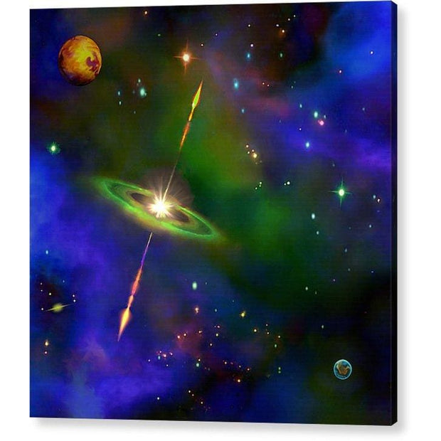 Green Galaxy - Acrylic Print by Don White - Art Dreamer