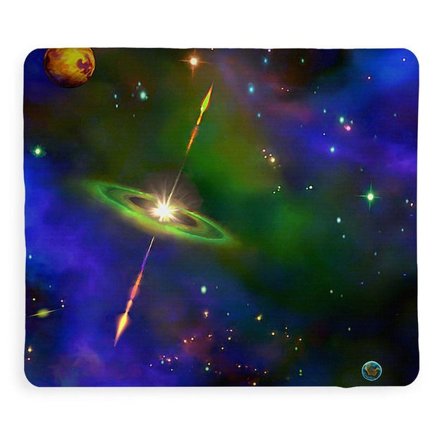 Green Galaxy - Blanket by Don White - Art Dreamer