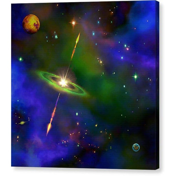 Green Galaxy - Canvas Print by Don White - Art Dreamer