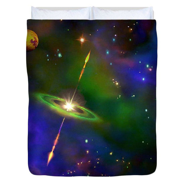 Green Galaxy - Duvet Cover by Don White - Art Dreamer