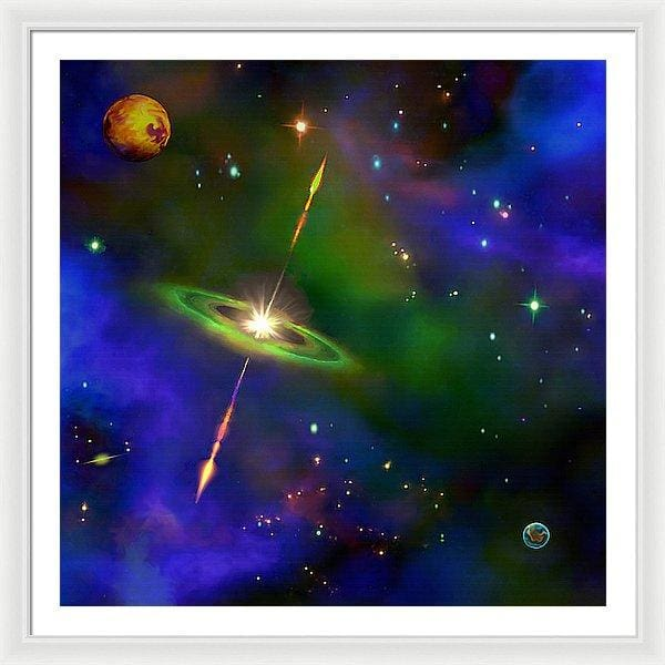 Green Galaxy - Framed Print by Don White - Art Dreamer
