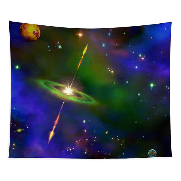 Green Galaxy - Tapestry by Don White - Art Dreamer