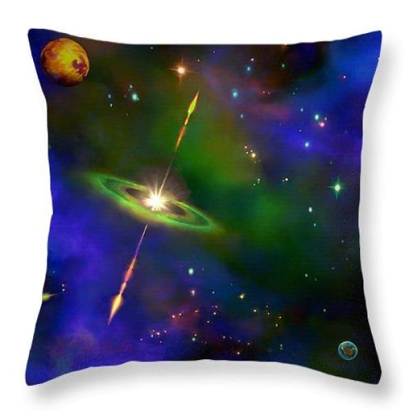 Green Galaxy - Throw Pillow by Don White - Art Dreamer