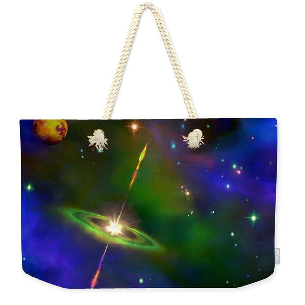Green Galaxy - Weekender Tote Bag by Don White - Art Dreamer