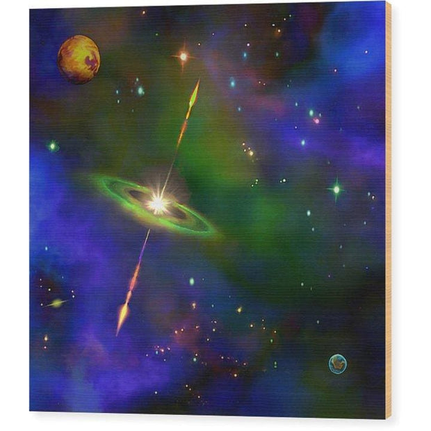 Green Galaxy - Wood Print by Don White - Art Dreamer