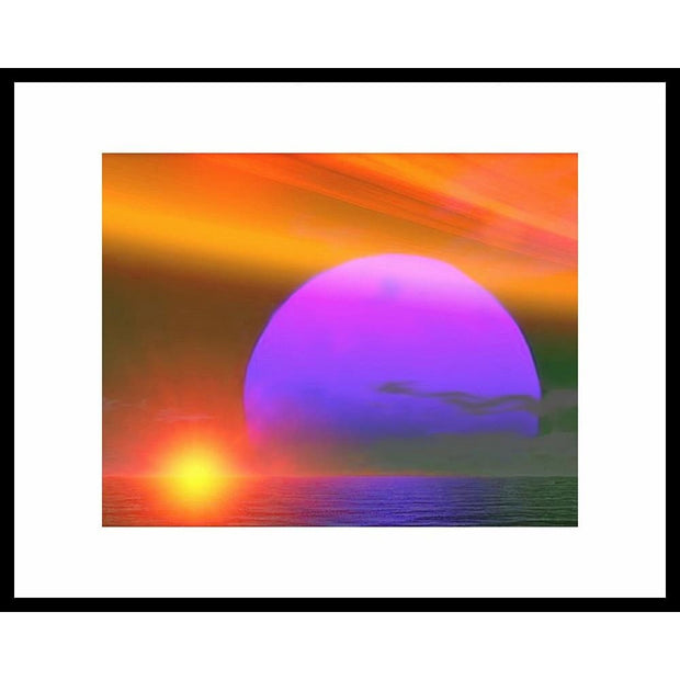 Happy Place - Matted Print 11 inch x 14 inch | Space Travel Art - Art Print