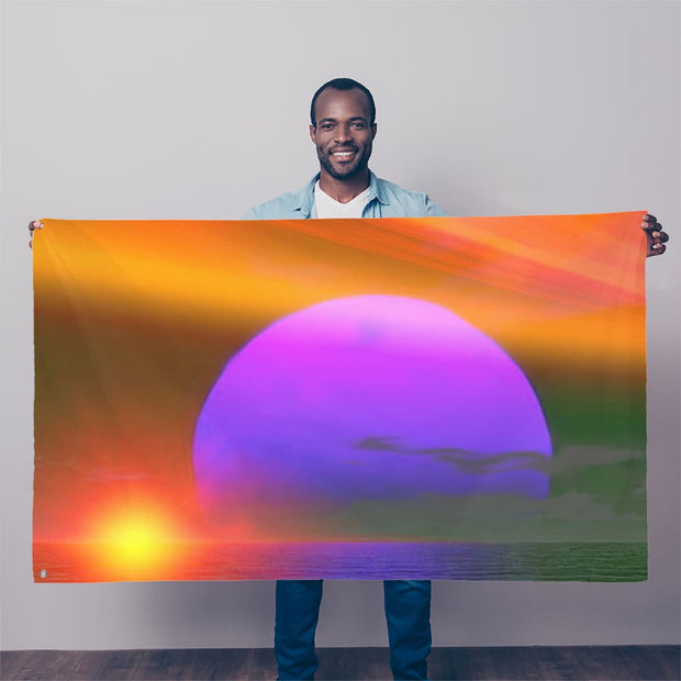 happy place Sublimation Flag by Don White - Art Dreamer