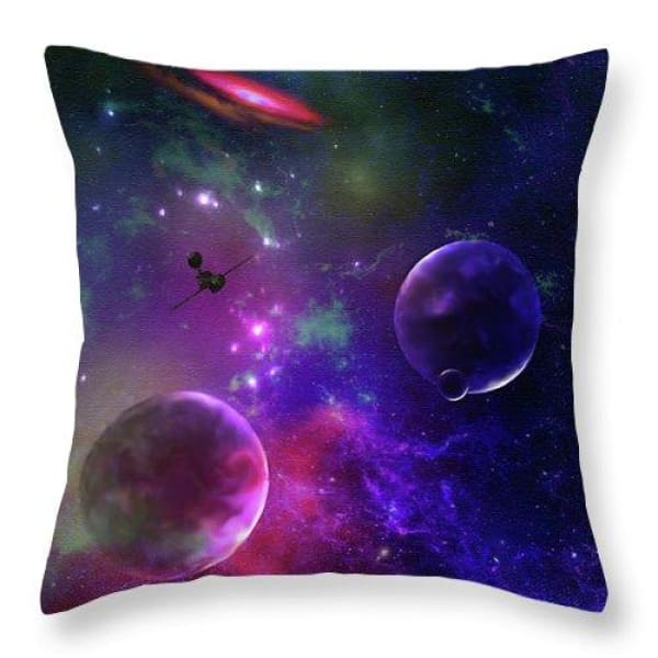 Held Against Their Will  - Throw Pillow by Don White - Art Dreamer