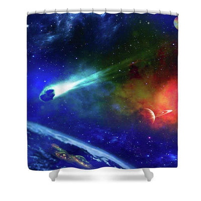 Impact Shelter - Shower Curtain by Don White - Art Dreamer