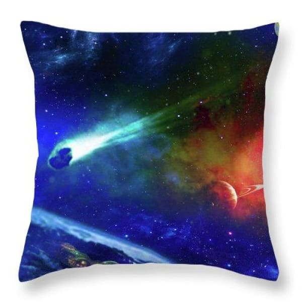 Impact Shelter - Throw Pillow by Don White - Art Dreamer