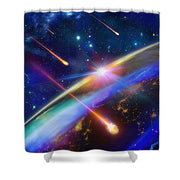 Incoming - Shower Curtain by Don White - Art Dreamer