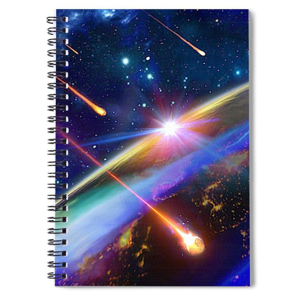 Incoming - Spiral Notebook by Don White - Art Dreamer