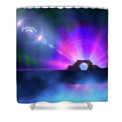 Interplanetary Gateway - Shower Curtain by Don White - Art Dreamer