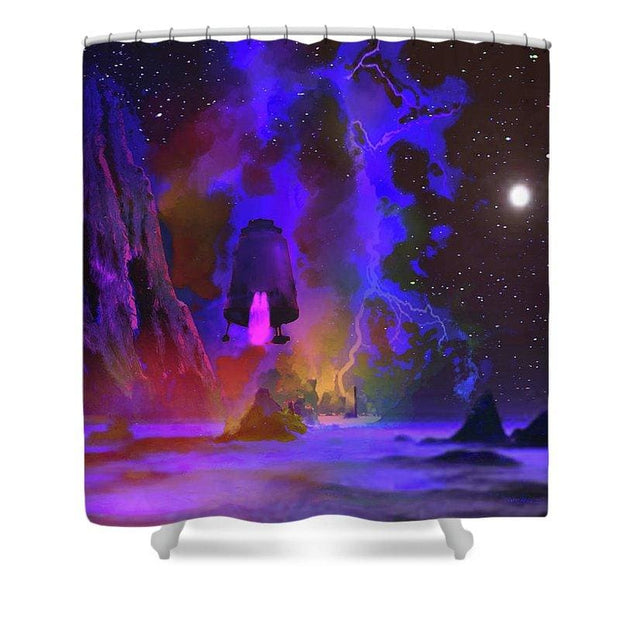 Iron Planet - Shower Curtain by Don White - Art Dreamer