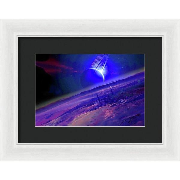 Long Walk Home - Framed Print - 12.000 x 8.000 / White / Black - Framed Print