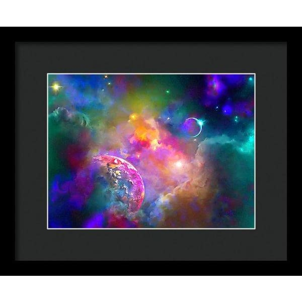Neighbors - Framed Print - 12.000 x 9.000 / Black / Black - Framed Print