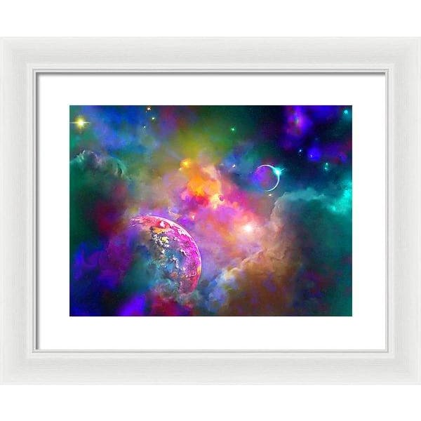 Neighbors - Framed Print - 16.000 x 12.000 / White / White - Framed Print