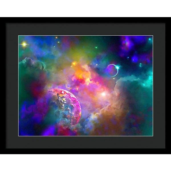 Neighbors - Framed Print - 20.000 x 15.000 / Black / Black - Framed Print